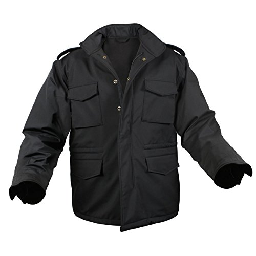 Rothco Soft Shell Tactical M-65 Jacket, Black, (Motion Soft Shell Jacket)