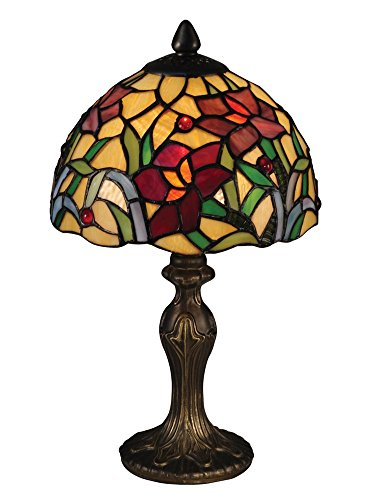 Dale Tiffany TA15087 Teller Tiffany Accent Table Lamp Antique Brass ()
