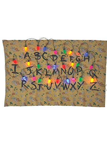 Rubie's Costume Co. 200145_NS Stranger Things Alphabet Tapestry Party Supplies, 68 x 46, Multicolor