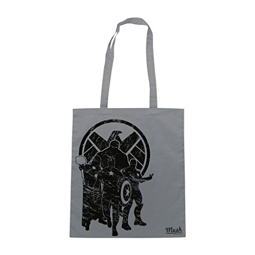 Borsa Avengers Shield Heroes - Grigia - Film by Mush Dress Your Style