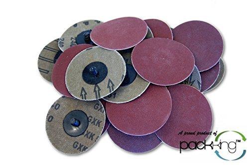 25 PC 3 Inch Roloc Discs 240 Grit (Extra Fine) R Type Sanding Abrasives