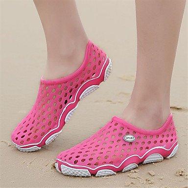 LvYuan Tacón Plano-Confort Suelas con luz Zapatos agujero-Sandalias-Exterior Informal-Materiales Personalizados-Rosa Pink