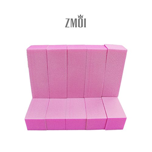 Blocks Acrylic Sock (ZMOI TM 10 PCS Buffer Block 100/180 Pedicure-Manicure MADE IN USA)