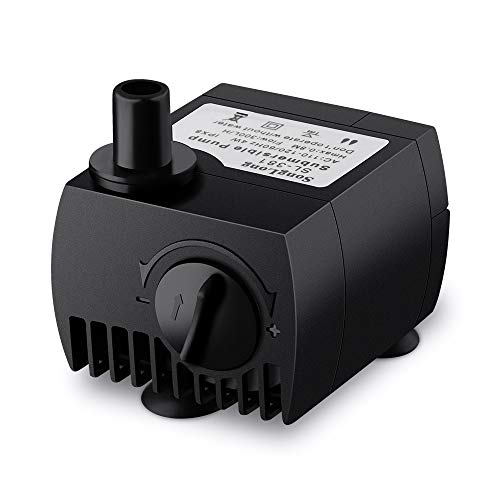 - VicTsing 80 GPH (300L/H, 4W) Submersible Water Pump For Pond, Aquarium, Fish Tank Fountain Water Pump Hydroponics with 5.9ft (1.8M) Power Cord (Black)
