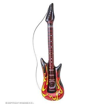 lively moments Guitarra Hinchable Rockstar con Llamas de ...