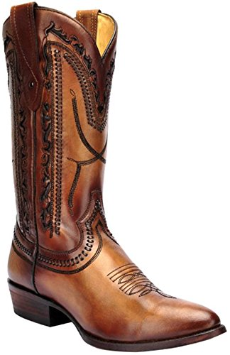 Corral Mens Tan Laser Whip Stitch Boot C2999