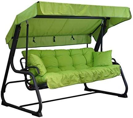 Tecnoweb - Cojines para balancín de 4 plazas - Incluido también el techo a juego - 100% Fabricado en Italia - Ideal para exteriores (jardines y patios) - Estructura no incluida, Lima: Amazon.es: Jardín