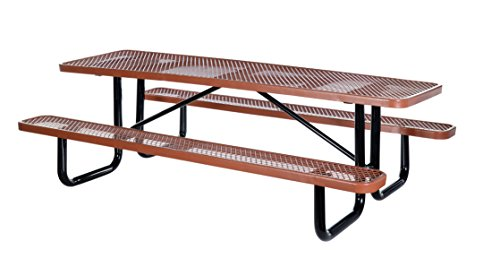 Vestil PT-MX-3072-BN Metal Rectangle Picnic Table, 72
