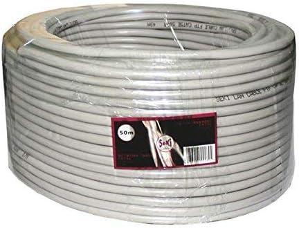 Cable de red CAT.5e 50m ; F/UTP ; cable de instalación CAT5 ethernet