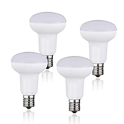 (Pack of 4) BR16 R16 LED Light Bulb E17 Base 5W Equivalent To 60 Watt Incandescent Bulbs 450lm Daylight White (5000k) Dimmable,120 Degree Beam Angle