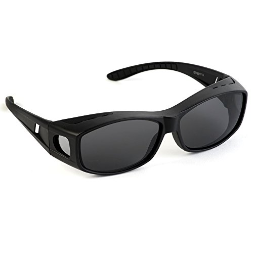 Over Glasses Sunglasses - Fitover Sunglasses with 100% UV Protection - By Pointed Designs (Matte - Glasses Prescription For Baseball