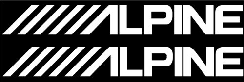 TWO Alpine car auto window audio vinyl decal sticker FREE USPS - Of Country Out Usps Shipping