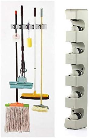 キッチンモップ主催者は5ポジションモップほうきホルダー壁の棚には、ツールを整理収納ハンガー浴室モップほうきホルダーをマウント