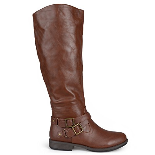 Brinley Co Women's Molly WC Riding Boot, Brown Wide, 8 M US