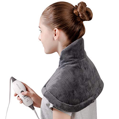 (Tech Love Electric Heating Pad for Neck Shoulder and Upper Back Pain Relief Moist/Dry Heated Pad with Auto Shut Off 14