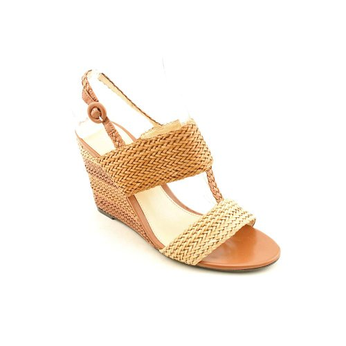 Marc Fisher Women's Bolivia Wedge Sandals in Medium Brown Size 10