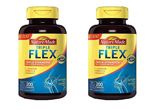 Nature Made TripleFlex, Glucosamine Chondroitin and MSM - 2 Bottles, 200 Caplets Each, 400 Caplets Total