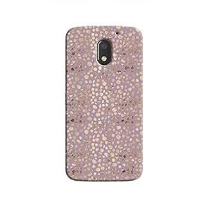Cover It Up - Brown Violet Pebbles Mosaic Moto E3 Hard Case