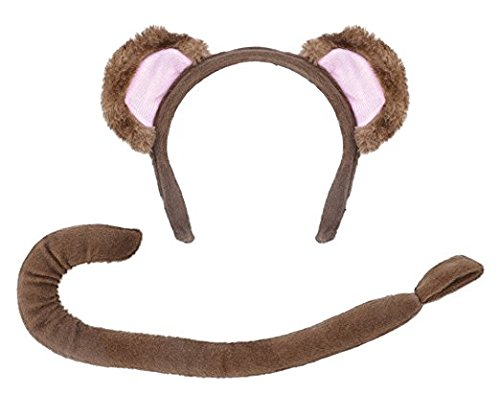 [Children's Monkey Ears & Tail Set] (Child Monkey Costumes)