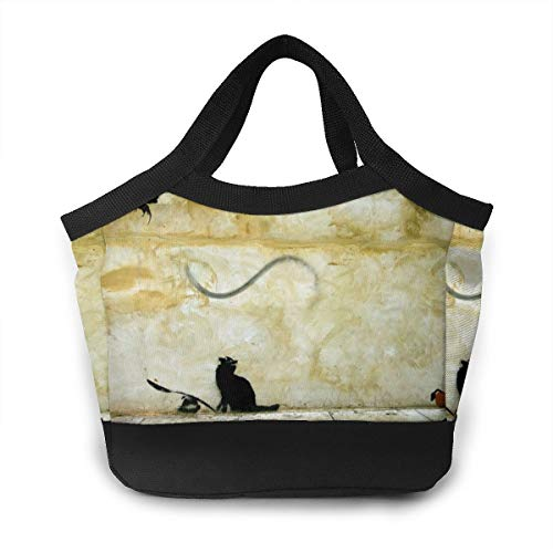 Cat Seesaw Flying Rats Lunch Bag Aluminum Foil Insulation, Insulation, Waterproof, Leakproof, Dustproof, Easy To Clean.
