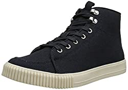 CK Jeans Men's Jenson Canvas Fashion Sneaker, Midnight, 7.5 M US