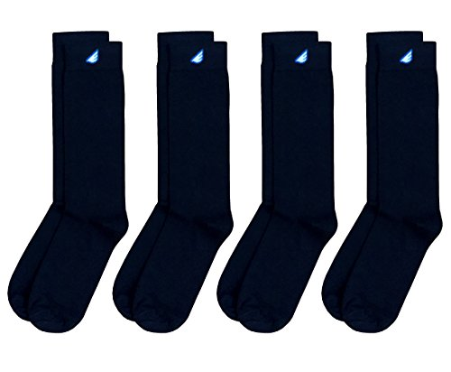 Men In Black Fancy Dress (Boldfoot Socks - Mens Cotton Premium Quality Solid Color Dress Socks Gift 4-Pack, Made in America (4 Pairs, Black))