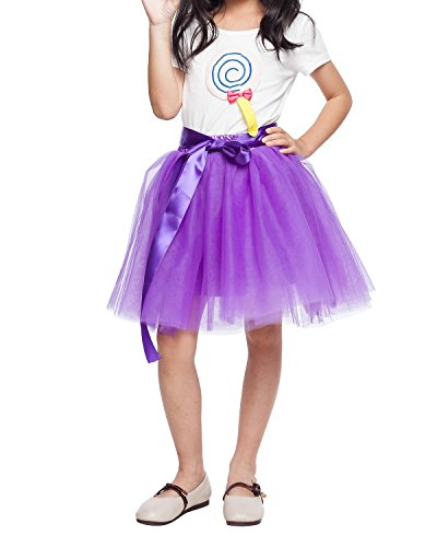 kephy Little Girl Tutu Skirt A Line 7 Layers Tulle Skirt Party Princess Dance Tutu Dress (3T -10T)