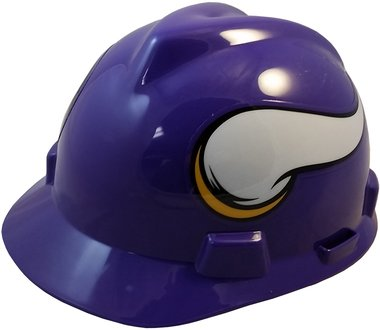 NFL Safety Hard Hats with Staz On Suspension - Minnesota Vikings Hard Hats (Minnesota Hat Vikings Hard)