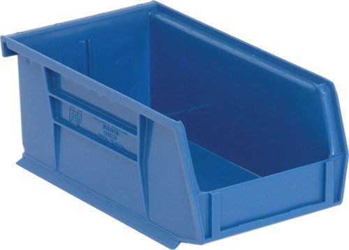 Quantum QUS235BL Ultra Stack and Hang Bin, 10-7/8'' Length x 11'' Width x 5'' Height, Blue, Pack of 6 by Quantum