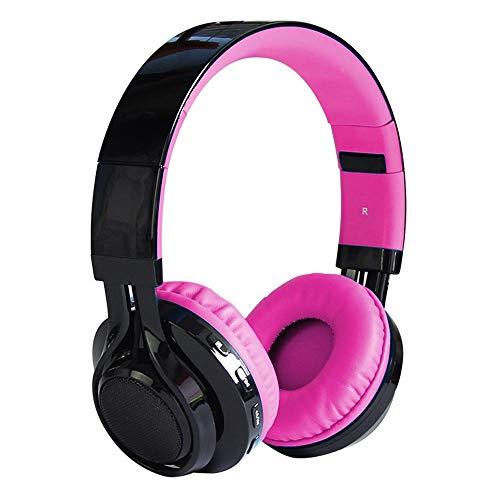 CAOQAO - Auriculares Plegables para Videojuegos con micrófono Desmontable para PC/PS4/Xbox/móvil Tablet, Smartphone/teléfono móvil, antiruido, estéreo, bajo Rose Chaud: Amazon.es: Informática