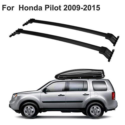 ALAVENTE Roof Rack Cross Bars Luggage Cargo Carrier Compatible for Honda Pilot 2009 2010 2011 2012 2013 2014 2015 (Pair, Black)