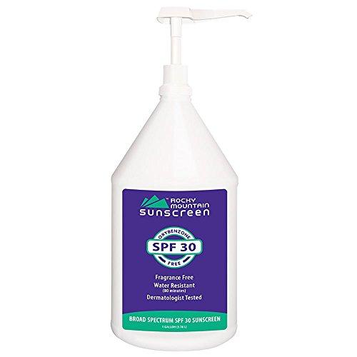 Rocky Mountain Sunscreen SPF 30 Regular Broad Spectrum Sunscreen Gallon Pump, 128 Ounce by Rocky Mountain