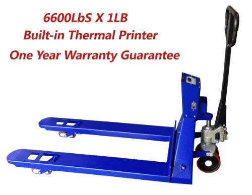 Pallet Jack Scale 6600 lb/1lb Pallet Truck Scale with Indicator, Built In Thermal Printer by SAGA