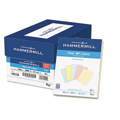 Recycled Colored Paper, 20lb, 8-1/2 x 11, Assorted, 500 Sheets/Ream, Sold as 1 Ream, 500 per Ream