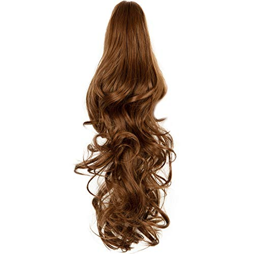 """Haironline Ponytail Extensions Claw 18"""" Curly Pony Tail Hair Extension Claw On Hair Piece Straight/Curly Black Day Gift Hairpiece"""