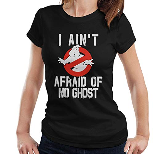 Wpmen's Ghostbusters No Ghost Logo I Aint Afraid T-Shirt, Many Colors, S to XXL