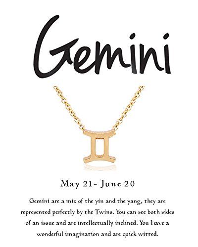 Boosic Gemini Necklace for Women, 18