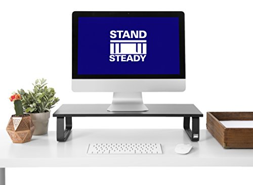 Monitor Foot (JUMBO Monitor Stand by Stand Steady® - Desk Shelf with 4 Padded Feet - 4.75 inches high! Perfect Size for your desk!)