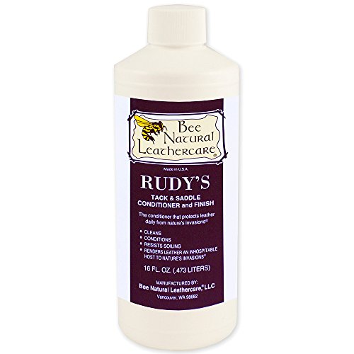BEE NATURAL LEATHER CARE RUDY S TACK & SADDLE CONDITIONER FINISH 16OZ