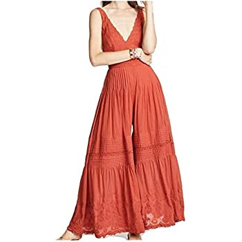 9c84f59b75 Amazon.com  Free People Women s Paloma Wide-Leg Jumpsuit