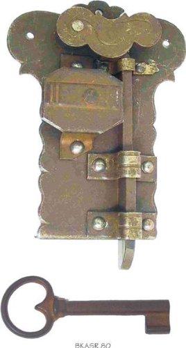 Antiguo Hofmeister Cerradura para buzón Hierro/Antiguo gerostet Mandril 7,5 cm H=