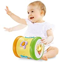 GoAppuGo Drum-Roo (3 Learn Play Modes, 12 Songs, 8 melodies, 4 Instrument Sounds) Activity Learning Musical Toy for Baby Birthday Gift for 1 Year boy Girl Baby 2 3 Year Old boy Girl