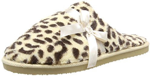 Dunlop Women's Henrietta Open Back Slippers Multicolor (Leopard) DfB3MNw