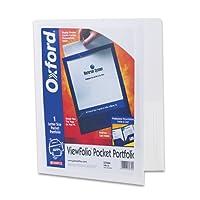Oxford ViewFolio Twin Pocket Folders, Letter Size, White(57444)
