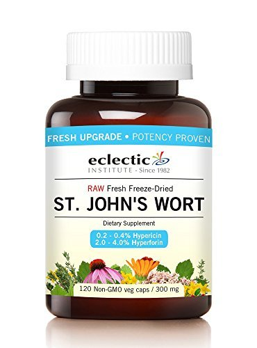 St. John's Wort 300mg Freeze Dried Eclectic Institute 120 Caps by Eclectic (Freeze Dried 120 Caps)