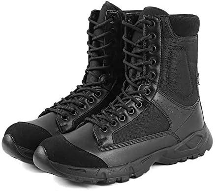 アウトドアメンズ戦術軍戦闘アンクルブーツ防水軽量ミッドハイキングブーツレザー防水戦闘軍ブーツ,41