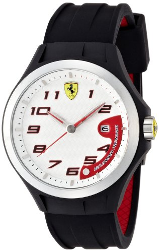 Scuderia Ferrari Gents SF102 'Lap Time' Black Watch with White Dial 0830013