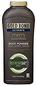 Gold Bond Ultimate Men's Essentials Body Powder, 10 oz., Pack of 2