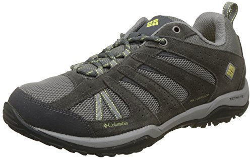 Columbia Women's Dakota Drifter Waterproof Hiking Shoe, Light Grey, Sunnyside, 8 B US