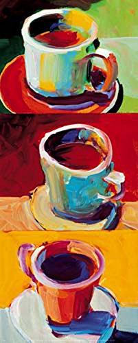 Three Cups o' Joe II by Robert Burridge Variety Print Poster 20X8